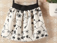 Wholesale cotton Women winter printed skirts three colors high waist dress ball grown woman skirt