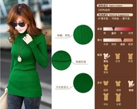 2014 Autumn and winter sweater women's medium-long sweater knitted free shipping