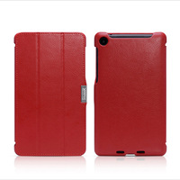 Genuine leather case for Google nexus 7 II,triple-folded side-open design,tablet cover,free shipping