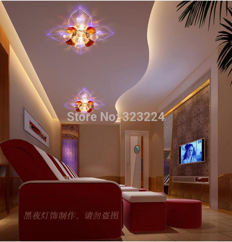 Livraison gratuite, vente chaude, conduit lampe de cristal, entrée/allée lights, lampes de plafond chambre, moderne et simple, creative lampe de mur