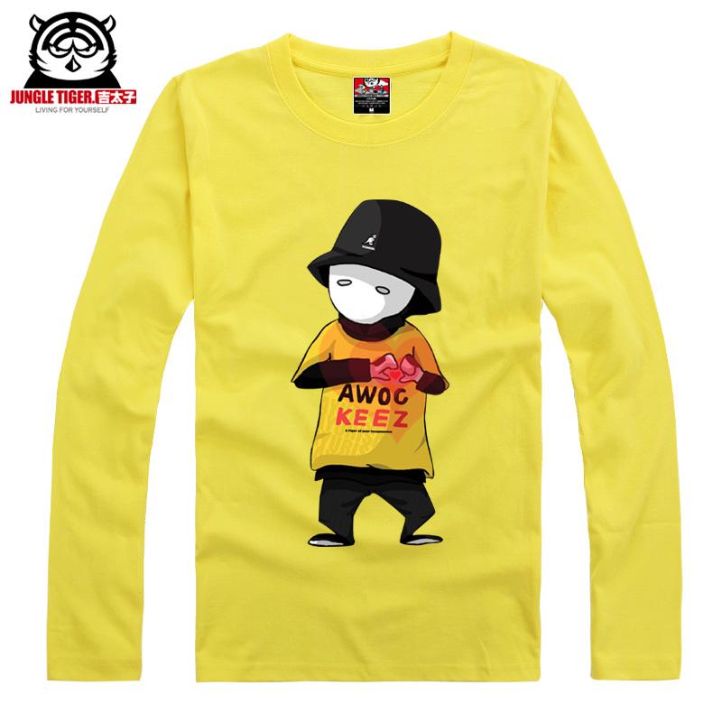 América top dançarina de hip hop Jabbawockeez mascarar de manga comprida T-shirt roupas masculinas mais a camisa do tamanho da camisola masculino top básico(China (Mainland))