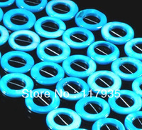 "Min order 12USD,Wholesale 15""  20mm Natural  Azure cyclic annular  shell beads  Beads  fashion jewelry beads CN-23"