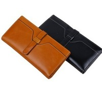Guranteed 100% Real cowhide leather wallet & holders for women 2013 New designer brand card holder wallet clutch Free Shipping