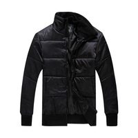 Winter hot-selling male stand collar slim casual wadded jacket  thickening cotton-padded