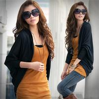 Spring and autumn 2013 women's medium-long plus size loose cardigan batwing sleeve cape coat
