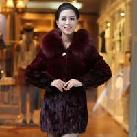 fur coat coat mink Sheep 2014 marten fur coat overcoat female  mink  fur coats jackets furs real fox fur fur coats jackets