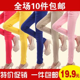 5417 elastic skinny pants high waist pencil pants female trousers legging trousers female women's