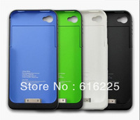2 color 1900mAh External Rechargeable Backup Battery Power Charger Case for iphone 4s 4g free shipping