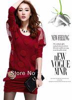 2013 autumn women's fashion faux two piece set slim hip long-sleeve dress