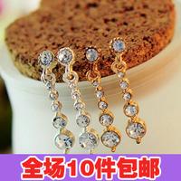 0263 sparkling diamond gorgeous dot long starlight stud earring earrings earring