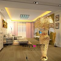 Fashion new arrival gold vase crystal floor lamp living room decoration table lamp floor lamp luxury lighting
