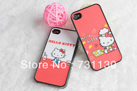 Free Shipping dull polish cute cartoon couple phone case for iPhone 4 4s