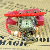Vintage women Watches Bracelet Quartz Leather wrist watch horse pendant  Ladies Dress watch Dropship Free shipping