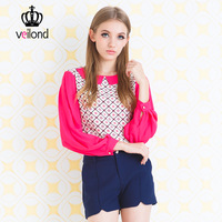 Candy color sweet chiffon shirt top peter pan collar female long-sleeve 2013 autumn women's all-match basic shirt