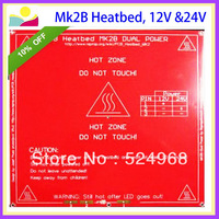 Newest Arrive ! Free shipping 12V and 24V can be used on MK2B (MK2A upgraded version) Reprap 3d printer heated bed PCB 1.6MM