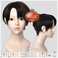 Attack On Titan Shingeki no Kyojin Rivaille Short Black Party Cosplay Wig