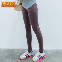 Autumn plus size clothing mm legging thin step legging spring and autumn elastic trousers