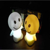 Free Shipping Colorful small night light smiley doll lamp led small night light 42g