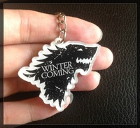 FREE SHIPPING Game of Thrones keyring A Song of Ice and Fire Game of Thrones keychain  wholesale 1 lot=5pcs