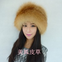Fur hat Women winter genuine leather fox fur ear hat lei feng marten hat 13