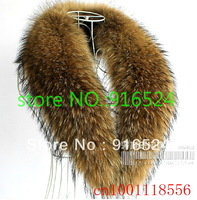 FREE SHIPPIN + The  New Raccoon Fur Collar, MS Collar, Authentic Raccoon Fur Collar, Fur Scarf  + 110CM
