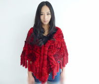 Rabbit fur knitted cape rex rabbit muffler scarf rex rabbit the bride wedding cape new arrival 2012 cape
