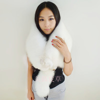 Fox scarf fox muffler scarf arctic fox fur cape scarf fox fur cape