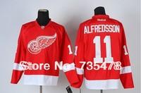New Jersey  DetroitRedWing #11 ALFREDSSON Red Jersey New Season