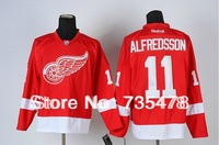 New Jersey  DetroitRedWing #11 ALFREDSSON Red Jersey New Season