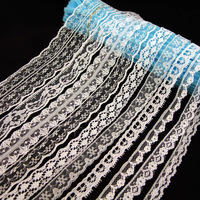 Free shipping Mixed 50yard/lot  flower Ribbon lace  scrabooking Lace for Home decoation