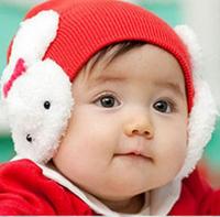 Baby hat baby hat twins rabbit hat ear protector cap autumn hat newborn tire cap