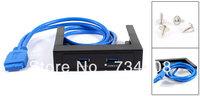 "3.5"" Floppy Bay 20 Pin 2 Port Hub Internal Bracket Cable USB 3.0 Front Panel"