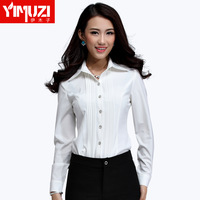 Women's long-sleeve autumn work wear white shirt work wear shirt top 110c