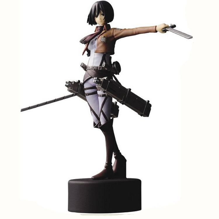 "Attack On Titan Shingeki No Kyojin Aren Mikasa Ackerman 5.5"" Pvc Figure Figurine With Box Toy-00301(China (Mainland))"