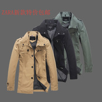 Autumn 2013zara autumn male slim jacket men's clothing fashionable design casual male short outerwear