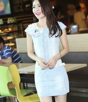 Remotest 2013 eternal summer underside denim one-piece dress