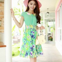 Remotest 2013 eternal summer flower one-piece dress