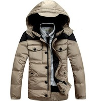 2014 New Arrival Men Down Coat loose thickening Jacket Hooded Warm Winter Outwear Fashion Style Best Selling MW9295
