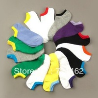 Free Shipping 2013 hot selling summer candy pure colour man sport socks  1lot=10 pairs=20 pieces MS-A007