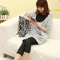 Big yards of new fund of 2013 autumn winters is loose nut printing pregnant women dress