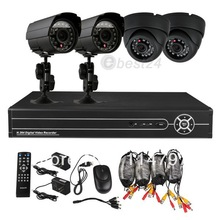 Inicio 8CH CCTV DVR 4 Night Vision Security Kit sistema de cámara(China (Mainland))