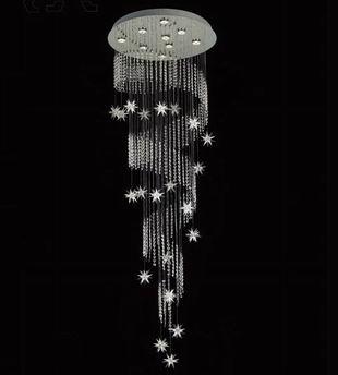 Luz pingente pingente de luz luz pingente de cristal contas octogonais cheios de espiral lâmpada da escada(China (Mainland))