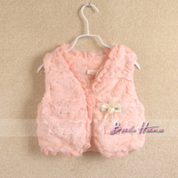 2013 autumn winter fashion child baby girls clothing children wool sweater vest outerwear top