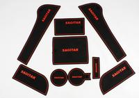 Vw door free tank pad 12 - 13 slip-resistant pad free cup pad storage suitcase pad for sagitar
