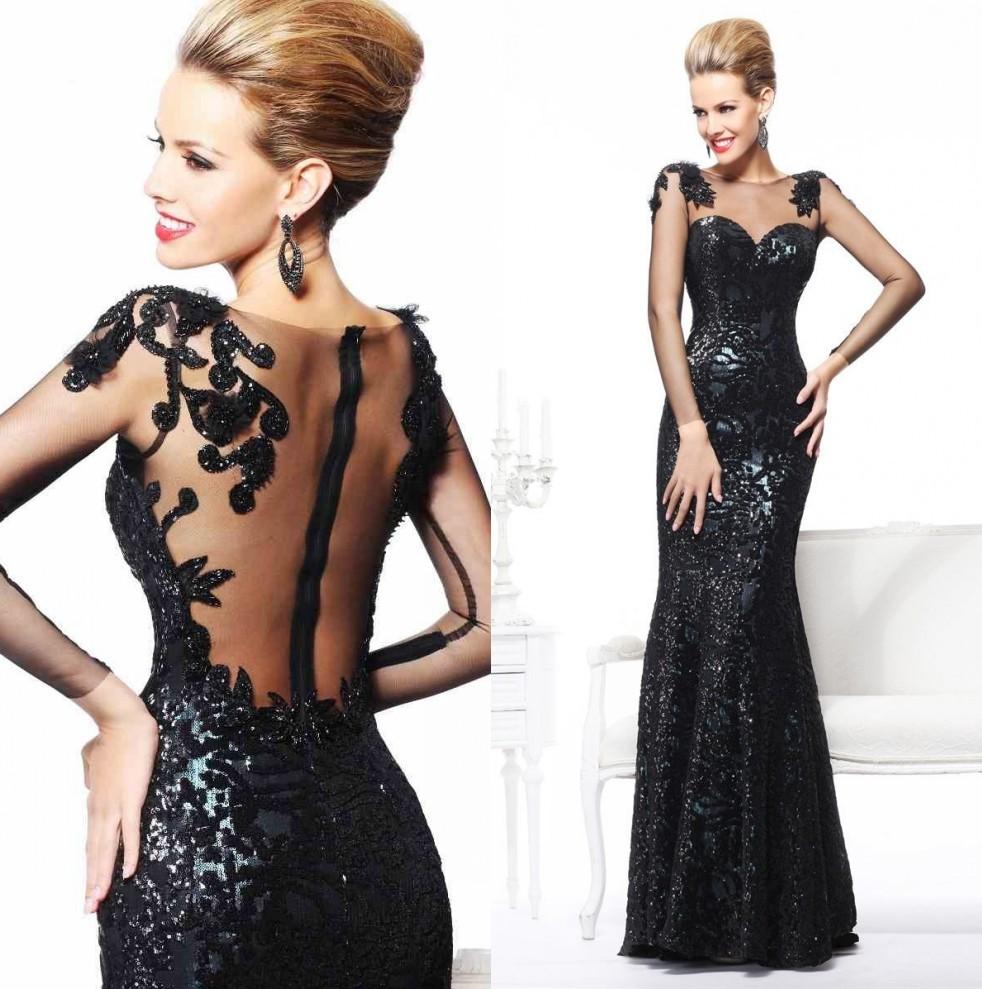 Вечерние платья в черном цвете фото