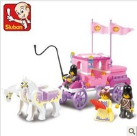 Sluban M38-B0250 137pcs eductional plastic Building Block Sets Girl Dream Princess Royal Carriage children toys Christmas Gifts