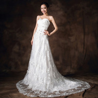 Special offer Mernaid sweetheart floor-length Court Train satin crystal Wedding Dresses #H13713