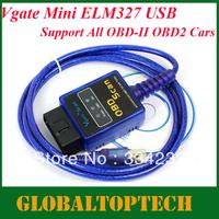 Free Shipping! 2013 New mini elm327 usb mini elm 327 obd scan VGATE ELM327 USB OBD SCAN PC USB interface/support all OBDII obd2