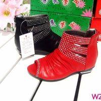 Hot-selling fashion high sparkling diamond cutout female child princess gladiator sandals