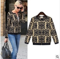 Free Shipping 2013 new winter coat knitted sweater print long-sleeve blouse wholesale European and American women new 5009